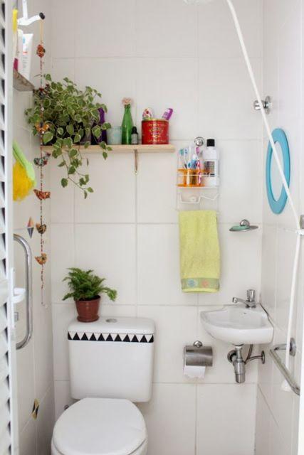 Adesivos para banheiro modelos, tipos e 60 fotos! -> Reformar Banheiro Pequeno Pouco Dinheiro