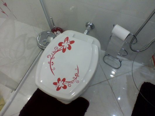 Adesivo flor tampa de vaso
