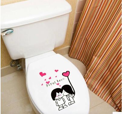 Adesivo delicado tampa de vaso sanitário