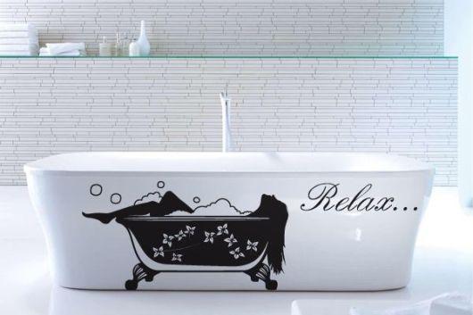 Adesivo decorativo banheira