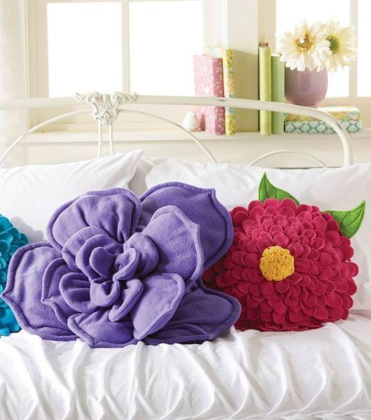 almofadas flores