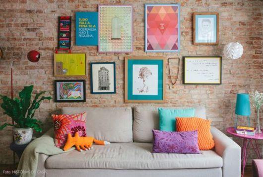 decoração sala com quadros