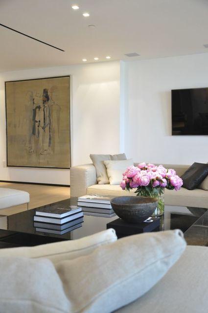 sala clean e moderna