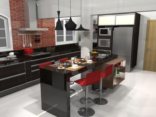 Bancada de cozinha 65 inspira es para sua casa - Super gourmet plus ...
