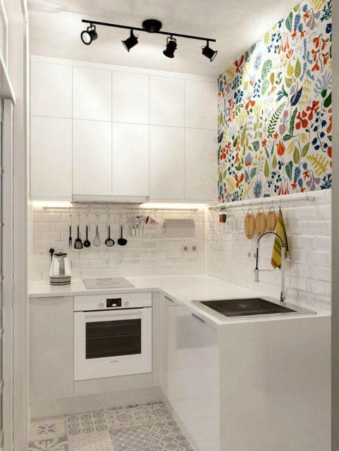 bancada de cozinha em L estilosa