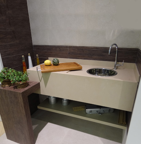 Bancada de cozinha 65 inspirações para sua casa # Bancada De Cozinha De Porcelanato