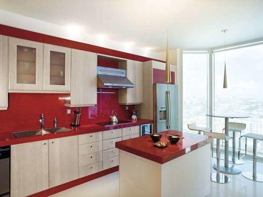 bancada de cozinha em vidro temperado