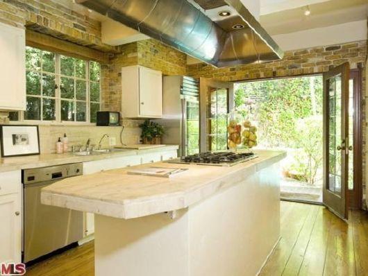 bancada de cozinha mármore claro