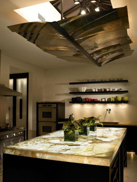 bancada de cozinha mármore onix