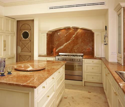bancada de cozinha mármore vermelho rojo