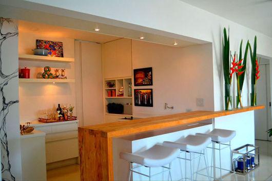 bancada de cozinha madeira clássic