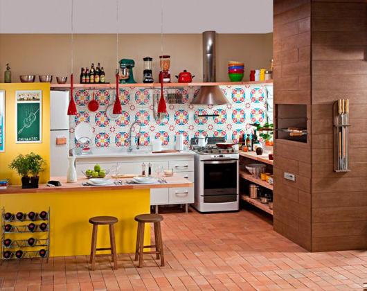 bancada de cozinha madeira