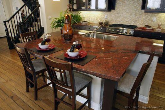 bancada de cozinha preto absoluto vermelho