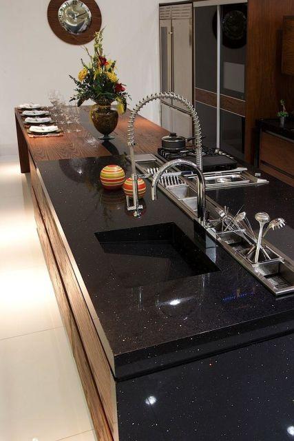 bancada de cozinha- silestone negro stellar