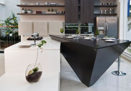 bancada de cozinha- silestone p&b