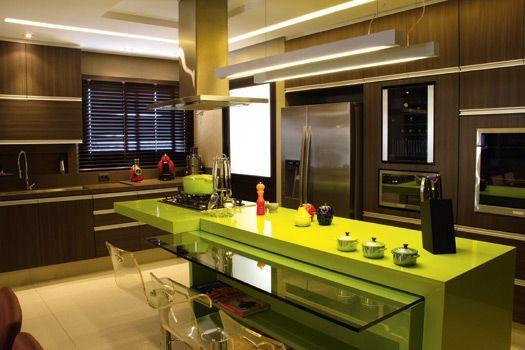 bancada de cozinha- silestone verde