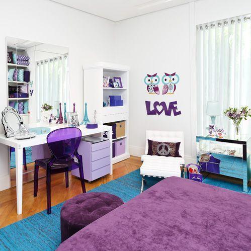 Decoração moderna quarto feminino