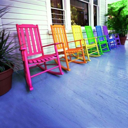 Cadeiras de madeira de balanço