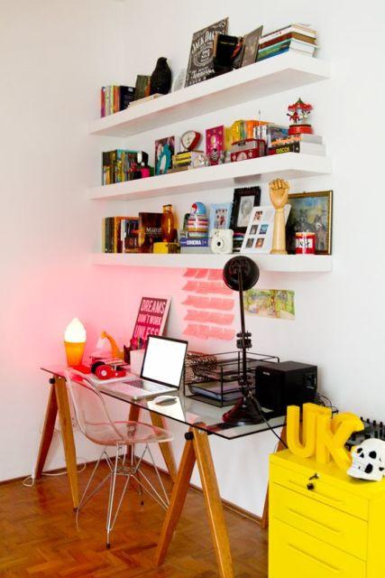 mesa cavalete home office