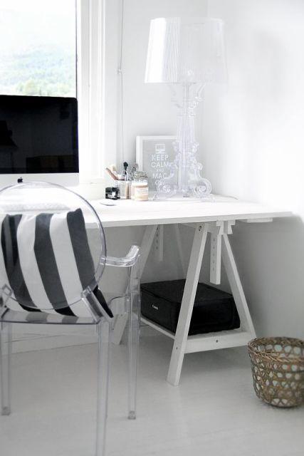 mesa branca home office