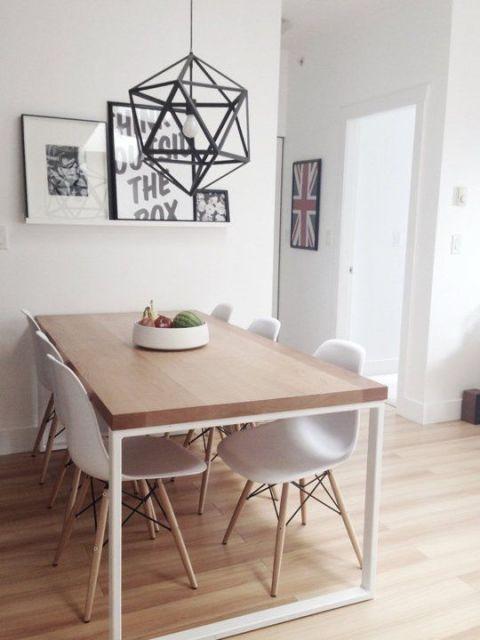 sala de jantar moderna e simples
