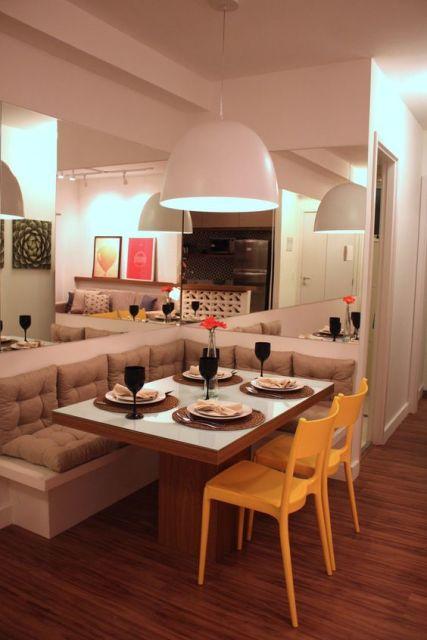 cadeira colorida sala de jantar