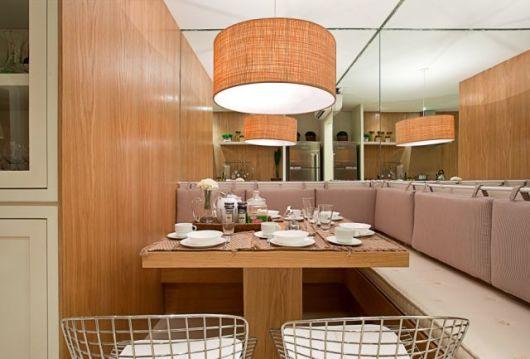sofá de canto sala de jantar
