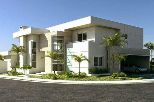 45 casas de esquina fachadas projetos e plantas incr veis for Casas contemporaneas en esquina
