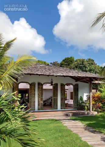 Casa térrea com varanda