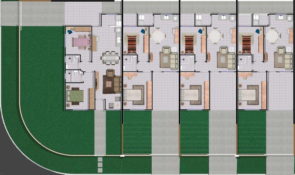 Planta casa pequena 2 quartos