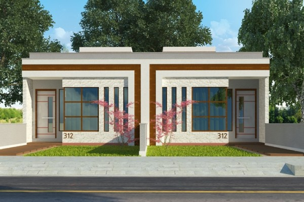 Casa térrea com garagem coberta