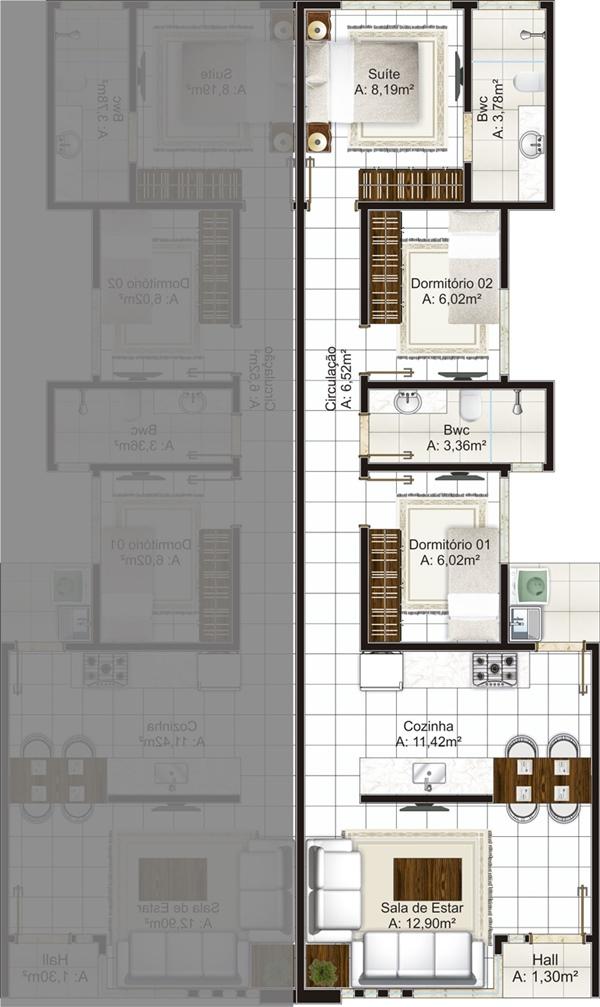 Super Casas geminadas: dicas, plantas e projetos! TR51