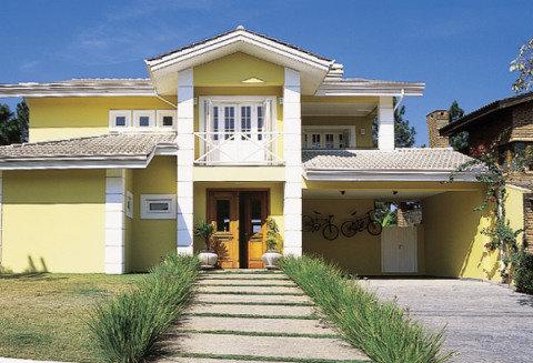 Cores de casas tend ncias para a pintura externa - Fachadas de casas pintadas ...