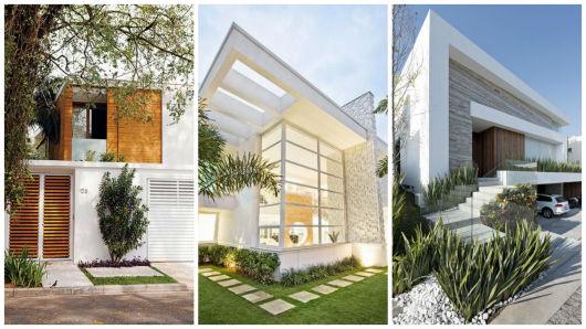 Casas modernas brancas