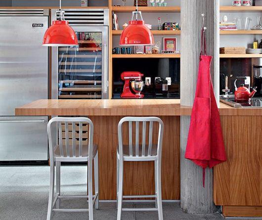 Balcão de madeira cozinha