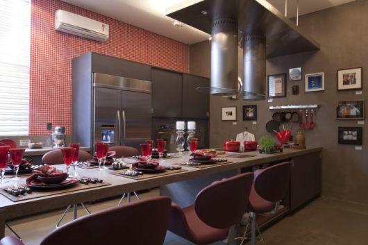 Parede cinza cozinha