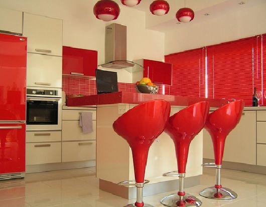 Projeto decoração vermelha e bege