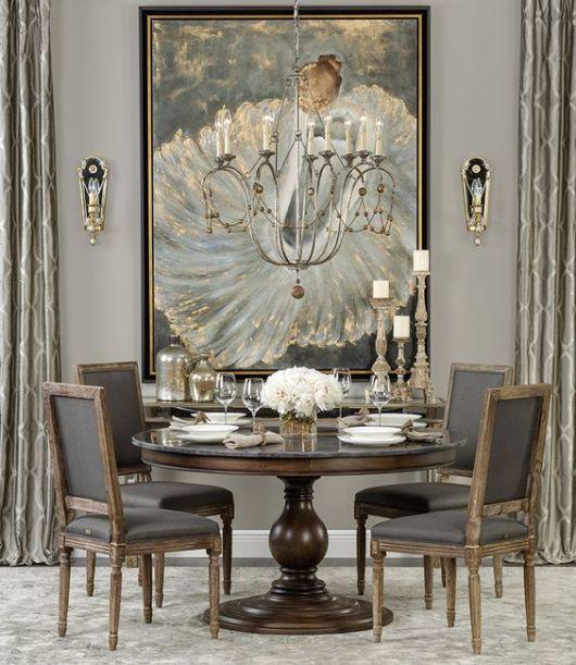 fotos de mesa de jantar redonda incrível