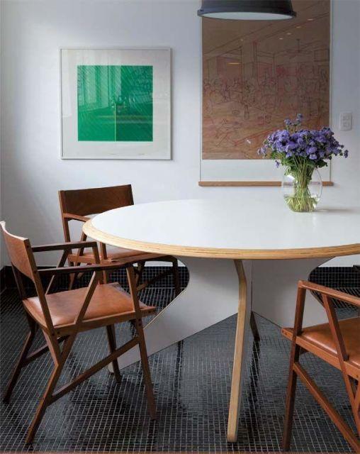 fotos de mesa de jantar redonda moderna