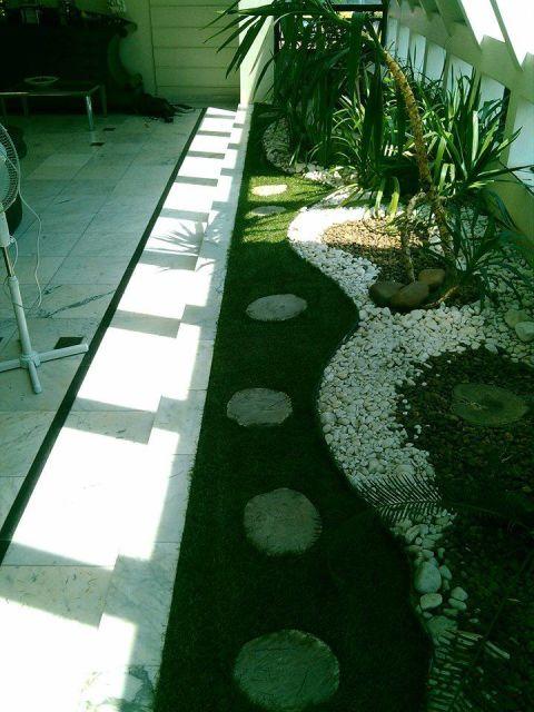 modelo de jardim com pedra