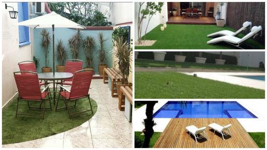 grama artificial jardim