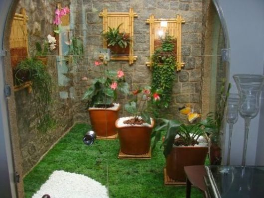 grama sintetica para jardim florianopolis : grama sintetica para jardim florianopolis:Vasos Decoram O Jardim Foto Divulgação Pictures to pin on