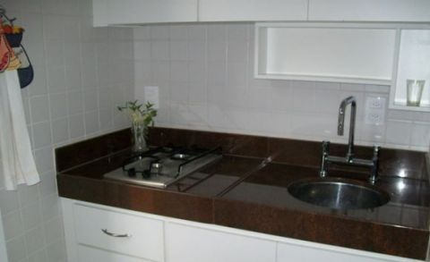 cozinha bancada marrom