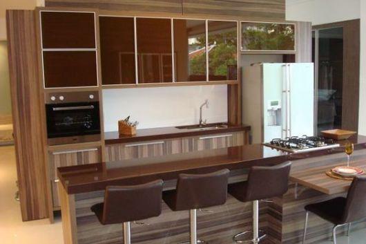 cozinha marrom
