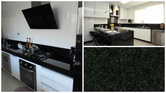 GRANITO PRETO 7 tons, preço, dicas e projetos maravilhosos -> Banheiro Decorado Com Granito Preto