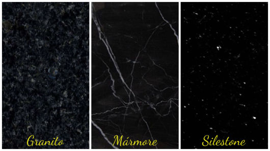 diferença granito, mármore, silestone