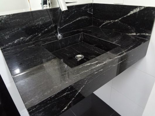 Granito preto 7 tons pre o dicas e projetos maravilhosos - Fotos de granito ...