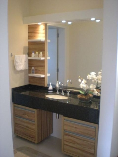 armário madeira banheiro