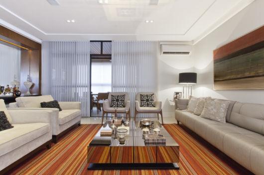 sala decorado com abajur