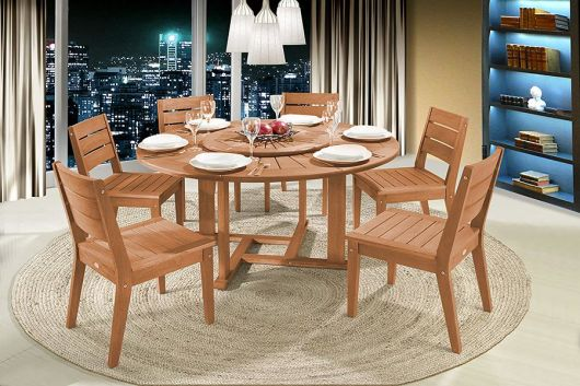 mesa de jantar redonda com tampo giratório